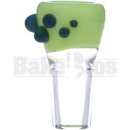 SAN DIEGO BORO GLASS BOWL DOT GRIPS KEY LIME GREEN 18MM