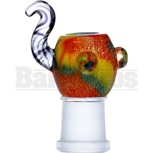 EMPIRE GLASSWORKS DOME CHALICE DICHRO YELLOW TEAL 14MM