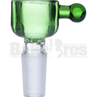 BOWL CYLINDER THICK WALL W/ BULB HANDLE ASTERIK SCREEN GREEN 14MM