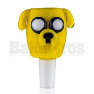 EMPIRE GLASSWORKS BOWL CARTOON TRIPPY TALKING DOG YELLOW 14MM