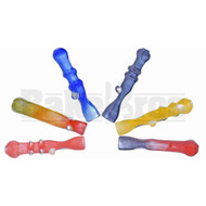 "GLASS HAND PIPE CHILLUM FRIT GLASS ART 3"" ASSORTED"