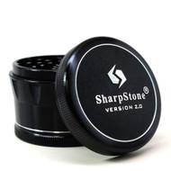 """SHARPSTONE 2.0 HARD TOP GRINDER 4 PIECE 2.5"""" BLACK Pack of 1"""
