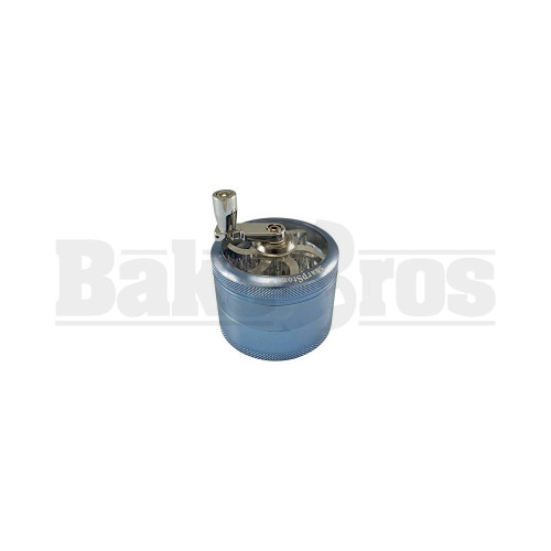 """SHARPSTONE 2.0 CLEAR TOP GRINDER WITH CRANK 4 PIECE 2"""" BLUE Pack of 1"""