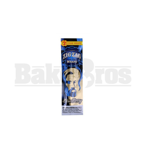 ZIG ZAG CIGAR WRAPS 2 PER PACK BLUEBERRY Pack of 6