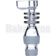 18MM 14MM NAIL W/ OUT TRIGGER BUCKET QUARTZ DOMELESS DUAL JOINT CLEAR MALE