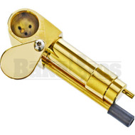 BRASS CARBURETOR HAND PIPE W/ SWIVAL CAP & POKER METALLIC