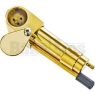 BRASS CARBURETOR HAND PIPE W/ SWIVAL CAP & POKER METALLIC