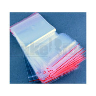 "ZIPPABLE PLASTIC BAGGIES 0.625"" x 0.625"" ASSORTED DESIGN Pack of 10 100 Per Pack"