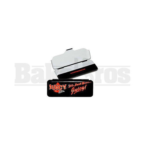JUICY ROLLING PAPER CONTAINER METAL TIN BLACK Pack of 6 100MM