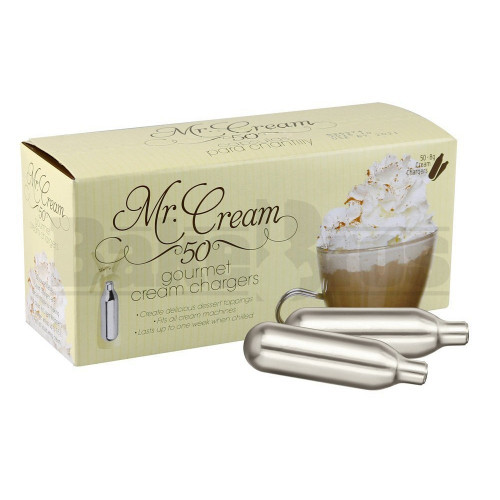 MR CREAM GOURMET CREAM CHARGERS ASSORTED Pack of 50 8 GRAM