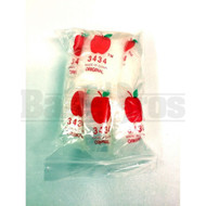"APPLE BAGS BAGGIES 3434 3/4"" x 3/4"" CLEAR Pack of 10 1000 Per Pack"