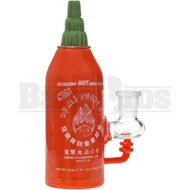 "EMPIRE GLASS WORKS SRIRACHA BOTTLE CHILI SAUCE OIL RIG BANGER HANGER 6"" RED FEMALE 14MM"