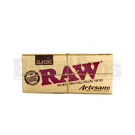 RAW ROLLING PAPERS CLASSIC ARTESANO KING SIZE SLIM 32 LEAVES UNFLAVORED Pack of 1