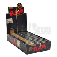 RAW BLACK CLASSIC ROLLING PAPERS 1 1/4 50 LEAVES UNFLAVORED Pack of 24