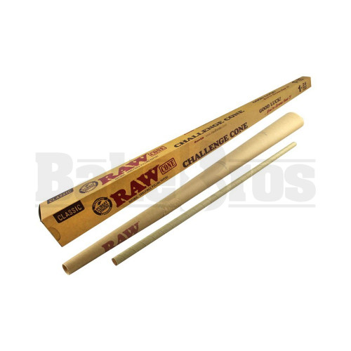 "RAW CLASSIC ROLLING PAPERS CHALLENGE CONE 24"" UNFLAVORED Pack of 1"