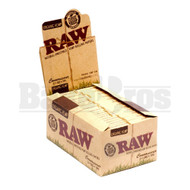 RAW ORGANIC HEMP ROLLING PAPERS W/ TIPS CONNOISSEUR 1 1/4 50 LEAVES UNFLAVORED Pack of 24