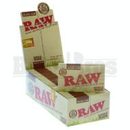 RAW ORGANIC HEMP ROLLING PAPERS SINGLE WIDE DOUBLE FEED 100 LEAVES UNFLAVORED Pack of 25