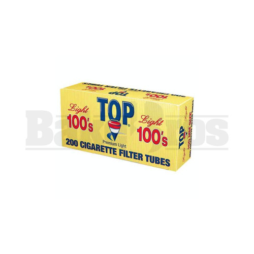 TOP PREMIUM LIGHT FILTERED CIGARETTE TUBES 100MM 200 TUBES UNFLAVORED Pack of 5
