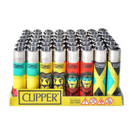 "CLIPPER LIGHTER 3"" RASTA ASSORTED Pack of 48"
