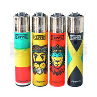"CLIPPER LIGHTER 3"" RASTA ASSORTED Pack of 1"