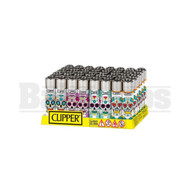 "CLIPPER LIGHTER 3"" MEXICAN SKULLS ASSORTED Pack of 48"