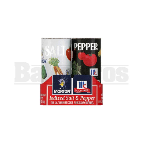 STASH SAFE MORTON IODIZED SALT & PEPPER ASSORTED