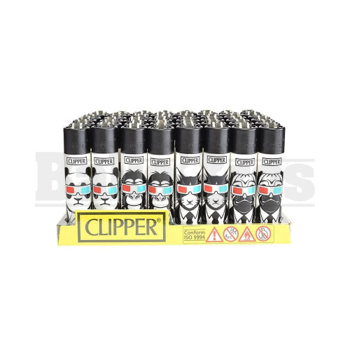 "CLIPPER LIGHTER 3"" 3D ANIMAL ASSORTED Pack of 48"