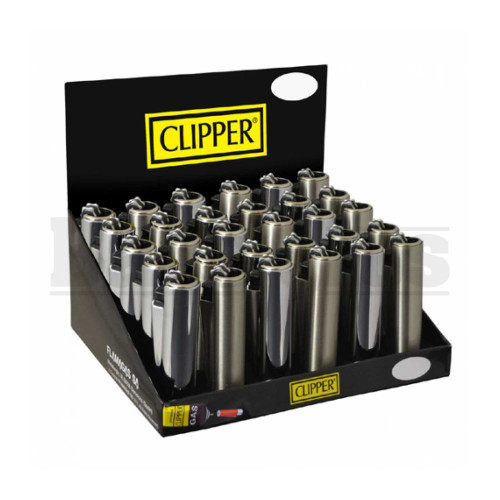 "CLIPPER LIGHTER 2.5"" METAL CLASSIC ASSORTED Pack of 48"