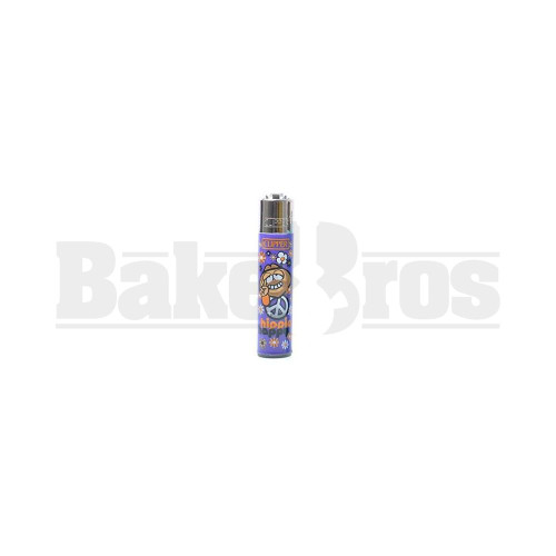 "CLIPPER LIGHTER 3"" HIPPIE ASSORTED Pack of 1"