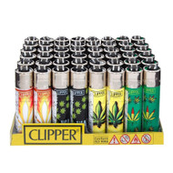 "CLIPPER LIGHTER 3"" HOJAS MARIA ASSORTED Pack of 48"