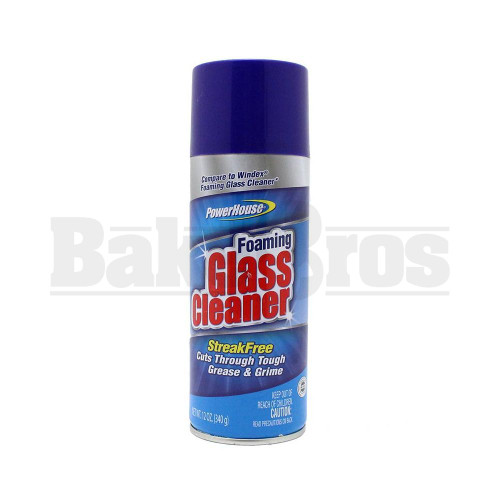 STASH SAFE POWERHOME FOAMING GLASS CLEANER ASSORTED 12 OZ