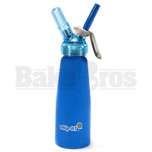 WHIP-IT CREAM WHIPPER MATTE BLUE WITH TRANSPARENT HEAD Pack of 1 250 ML