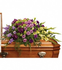 Passionate Purple Casket Spray