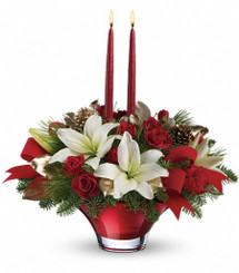 Red Bowl with Lilies