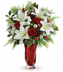 Holiday Lilies and Roses