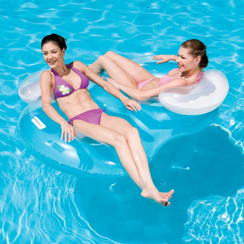 Inflatable Double Ring Swimming Pool Tube 43009