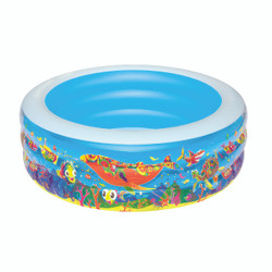 Rainbow Sea Life Round Play Paddling Pool