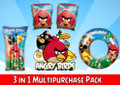 The Angry Birds swimming pool kids inflatable multi pack is a quick and easy way to get the fun started