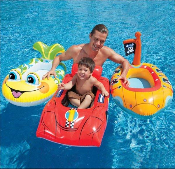 Intex inflatable pool cruiser race car pirate boat fish for Intex pool koi pond