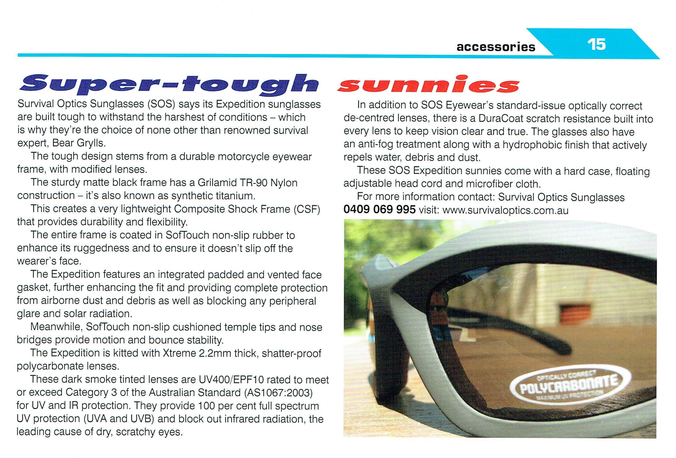 Bikebusiness reviews SOS Expedition sunglasses
