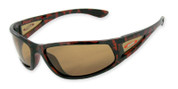 #3702 Shiny dark tortoiseframe with side lens with TAC polarized brown 1mm lenses for all round light conditions