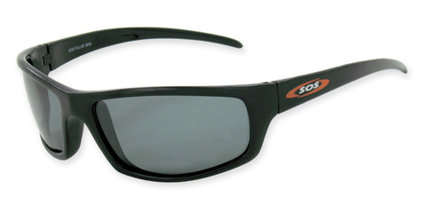 Hammerhead sunglasses 3811 with shiny black frame and smoke 1.0mm TAC polarized lenses