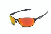 #45 Matt black frame and brown TAC polarized fire red mirror 1.0mm lens