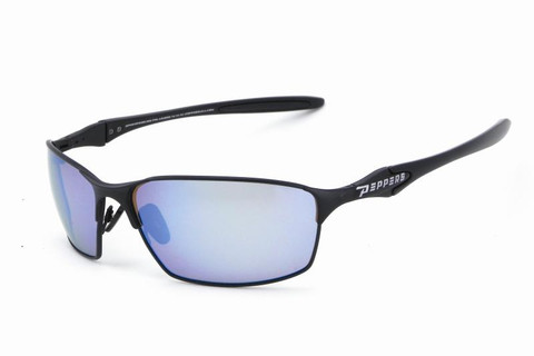 #12 Matt black frame and brown TAC polarized blue mirror 1.0mm lens