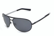 #LP400-1 Pitt Boss sunglasses with shiny black frame and PC polarized smoke flash mirror 1.0mm lens