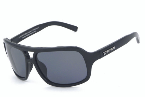 Shiny black frame with PC polarized smoke lens