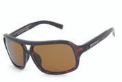 Shiny dark tortoise frame with PC polarized brown lens