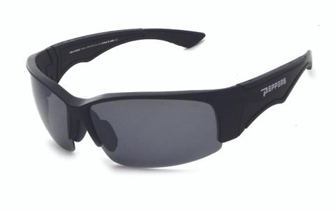 FL7364-1 Matte black frame and smoke TAC polarized lens