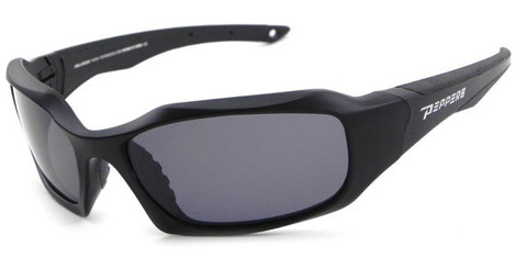 FL7364-1 Trident sunglasses- matte black frame and smoke TAC polarized lens