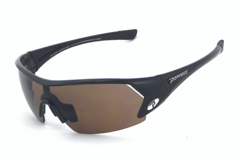 LP654-1 Defender sunglasses - shiny black frame with smoke 2mm PC lens